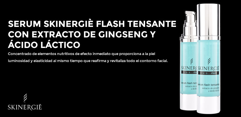 Serum Flash Tensante Skierngiè con extracto de gingseng y ácido láctico